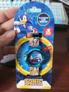 sonic the hedgehog 30th aniversary LCD FLASHING ICON & DIAL WATCH adjustable new