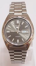 SEIKO 5 SNXS79 Stainless Steel Band Automatic Men's Black Watch SNXS79K1 New !