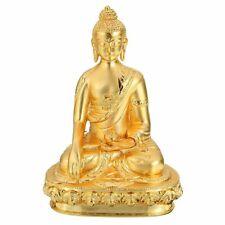 Alloy  Tibetan Buddha Statue Gold Buddhism Souvenir Decor Rectangle Gift New