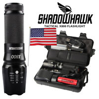 80000lm Genuine Shadowhawk Tactical Flashlight LED Military Torch G700 Gift Set