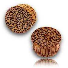 CONCAVE 5/8 (16MM) INCH COCO WOOD PLUGS COCONUT PLUG