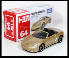 TOMICA #64 PORSCHE BOXSTER 1/64 TOMY DIECAST CAR 2013 MAY New Model Gold