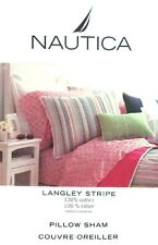 LANGLEY STRIPE BY NAUTICA MULTICOLOR PILLOW SHAM BEDDING NEW