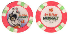 (1) Jim Kelley's Nugget $5 Casino Chip Crystal Bay Lake Tahoe NV FREE SHIPPING*