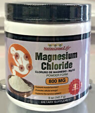 Cloruro de Magnesio Magnesium Chloride 800mg Polvo Powder high absorption Mgc12