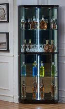 brand new Glass & wood Display Cabinet Show Case Storage Corner Display Cabinet