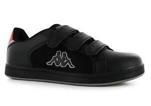 Kappa Mens Black Red Nulent 4 Hook & Loop Trainers Shoes