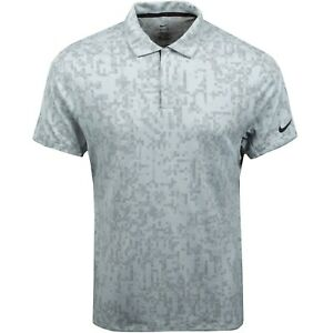 New Nike Tiger Woods ADV Dri Fit Light Gray Polo Shirt sz XXL $85