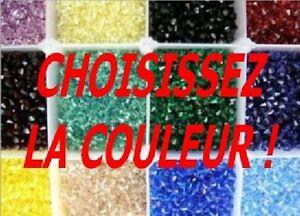 LOT DE 500 PERLES TOUPIES EN CRISTAL SWAROVSKI  4MM  + DE 100 COULEURS AU CHOIX