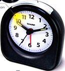 Sharp Battery Operated Ascending Alarm Clock Back Light On Demand Analog Travel
