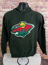 Minnesota Wild NHL Hockey Hoodie Hooded Sweatshirt Jersey Mens Size Medium Green
