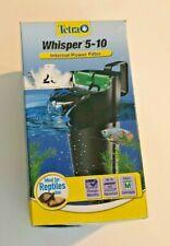 New listing Tetra Whisper Internal Power Filter 5-10 G Aquarium Fish Reptiles Turtle. Nib