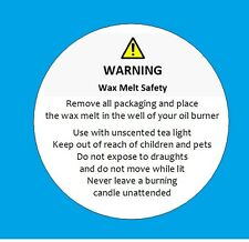 WAX MELT SAFETY STICKERS - REQUIREMENT BY LAW - 105