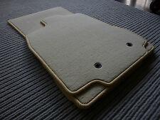 DeLuxe Velours Fußmatten für Jaguar XF X250 + BEIGE + Original Lengenfelder +NEU