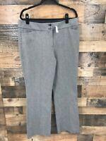 New Ann Taylor Loft Women's Black & White Julie Boot Cut Dress Pants Size 14