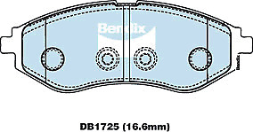 Brake Disc Pad Set Front Bendix DB1725 GCT For DAEWOO KALOS BARINA KLAS TK