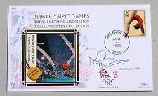 OLYMPIC GAMES ATLANTA 1996 BENHAM COVER SIGNED BY SWIMMER NICK GILLINGHAM
