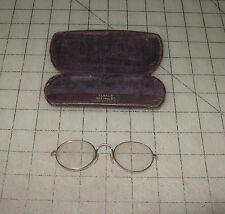 Pair of Vintage (Antique) EYE GLASSES with Case Caplin or Caflin Washington, DC