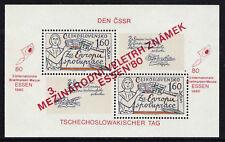 CHECOSLOVAQUIA/CZECHOSLOVAKIA 1980 MNH SC.2137 Overprinted Red ESSEN´80
