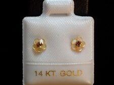 Diamant & Perlmutt - Blüten - Ohrstecker - 0,072 ct. - 14 Kt. Gold 585 exclusiv