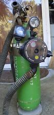 Vintage Aviation Oxygen Tank w/ Regulator & Hose & Carrier
