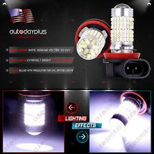 2X Super Bright HID White 6000K H11 144SMD DRL Fog/Driving Light LED Bulb 12/24V