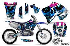 Yamaha YZ125 YZ250 Dirt Bike Graphic Sticker Kit Decal Wrap MX 96-01 FRENZY BLUE