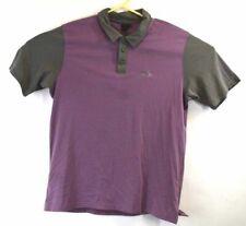 Oakley Mens Large L Purple Gray Polo Short Sleeve Casual Shirt