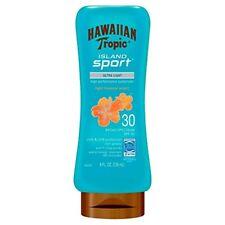 Hawaiian Tropic Island Sport Lotion SPF 30 Light Tropical Scent 8oz Each