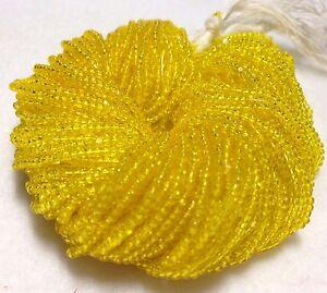 13/0 Yellow Transparent Czech Glass Seed Bead Charlotte Preciosa True Cut, #143