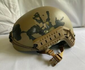 Ballistic Tested FAST Helmet Iraq Souvenir Bullet Holes Special Forces Style