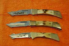 ULTRA RARE CASE XX 1979, 1980 and 1981 STAG Shark Series 5159, 5158, 5197