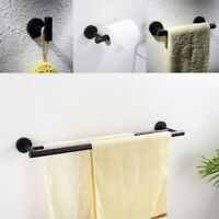 Stainless Steel Bathroom Hardware 4pcs Set Paper Wall Holder Robe Hook Towel Bar