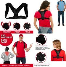 Corrector de Postura espalda unisex,correa ajustable 70 a 110 cm,reduce el dolor