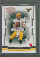 2005 THROWBACK THREADS HOLO #55 BRETT FAVRE 059/250 GREEN BAY PACKERS HOF