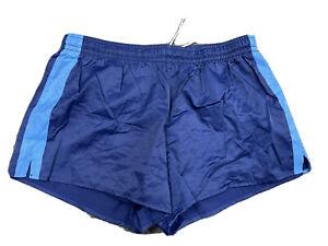 Retro German Army Sports Shorts Blue Stripe Summer Military Fitness Gym Running