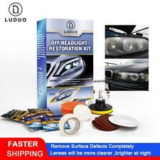 LUDUO DIY Headlight Restoration Polishing Kits Headlamp Clean Paste Systems Car