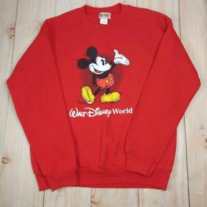 Disney Kids Red Walt Disney World Mickey Crew Neck Pullover Sweatshirt Size XL