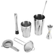 7Pcs Cocktail Maker Set Shaker Cup Mixing Rod Strainer for Bar Bartender Tool