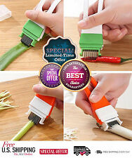 Onion Slicer and Dicer Vegetable Cutter Sharp Scallion Shred Tool Kitchen Food