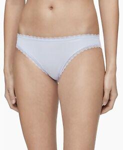 Calvin Klein Women's Lace-Trim Bikini Underwear M