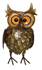 BRAND NEW FEATHERED OWL METAL GARDEN ORNAMENT