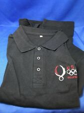 """USA Olympic, embroidered polo, """"Beijing 08 , adult S/M new condition"""