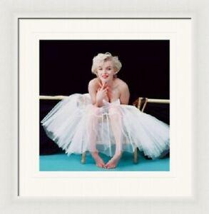 MARILYN MONROE - ballerina - mounted framed print - 40 x 40 cm print