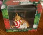 Sandicast Chihuahua Handpainted Christmas Ornament Dog in Striped Scarf NEW