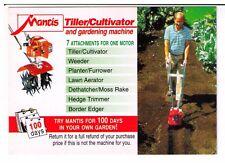 Postcard: Mantis Limited - Tiller/Cultivator and Gardening System