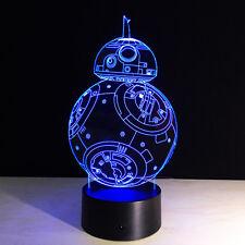 US Creative 3D Star War Force Awaken Illusion LED Nightlight 7 Colors Table Lamp