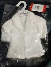"""American Girl or 18"""" Doll White Faux Fur Coat New In Package With Tag/Hanger"""