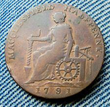 MACCLESFIELD HALFPENNY TOKEN 1791