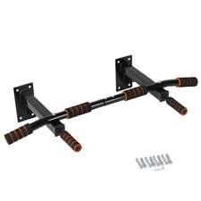 FITNESS MASTER Wall Mounted Pull Up Bar - Black (0880921783608)